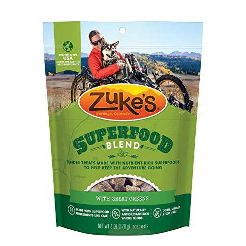 Zuke'S Superfood Blend With Great Greens Dog Treats - 6 Oz. Pouch (Packaging may vary)