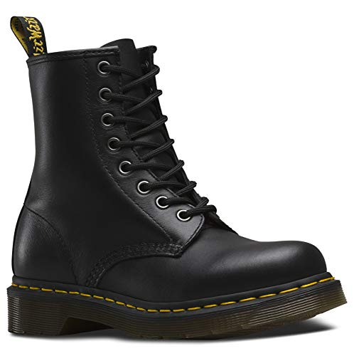 Dr. Martens Womens 1460W Originals Eight-Eye Lace-Up Boot, Black, 6 M US/4 UK
