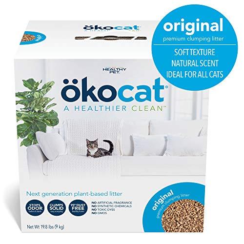 �kocat Natural Wood Cat Litter, 19.8-Pound, Clumping