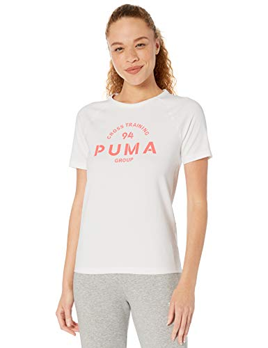 PUMA Women's XTG Graphic Top, White, L