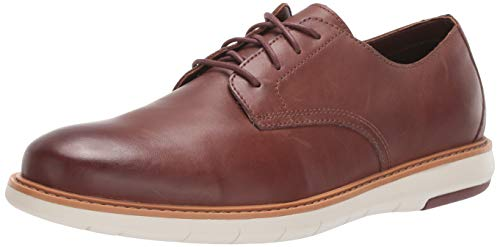 Clarks Men's Draper Lace Oxford, Mahogany Leather, 70 M US