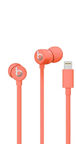 Urbeats3 Wired Earphones With Lightning Connector - Tangle Free Cable, Magnetic Earbuds, Built In Mic And Controls - Coral