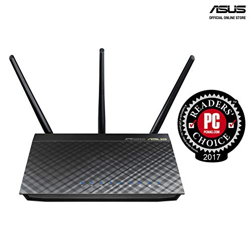 ASUS RT-AC66U B1 AC1750 Dual-Band WiFi Router, AiProtection Lifetime Security by Trend Micro, AiMesh Compatible for Mesh WiFi System