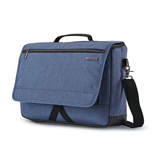 Samsonite Modern Utility Laptop Messenger Bag, Blue Chambray, One Size