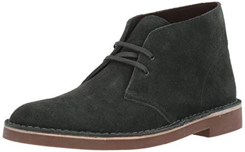 Clarks Men's Bushacre 2 Chukka Boot, Dark Green Suede, 80 M US